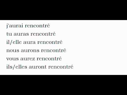 Conjugation of rencontrer - French verb | PONS